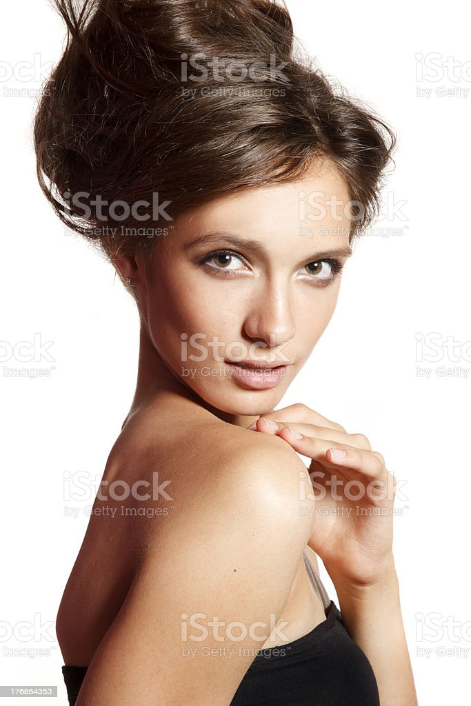 Hairs up royalty-free stock photo