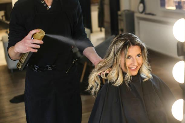 Hairspray stock photo