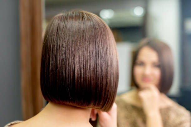 12 Silhouette Of Short Dark Brown Hair With Highlights Stock Photos Pictures Royalty Free Images Istock