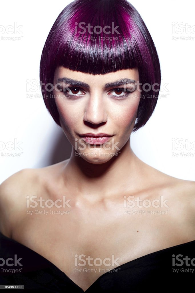 Hairstyle portrait royalty-free stock photo