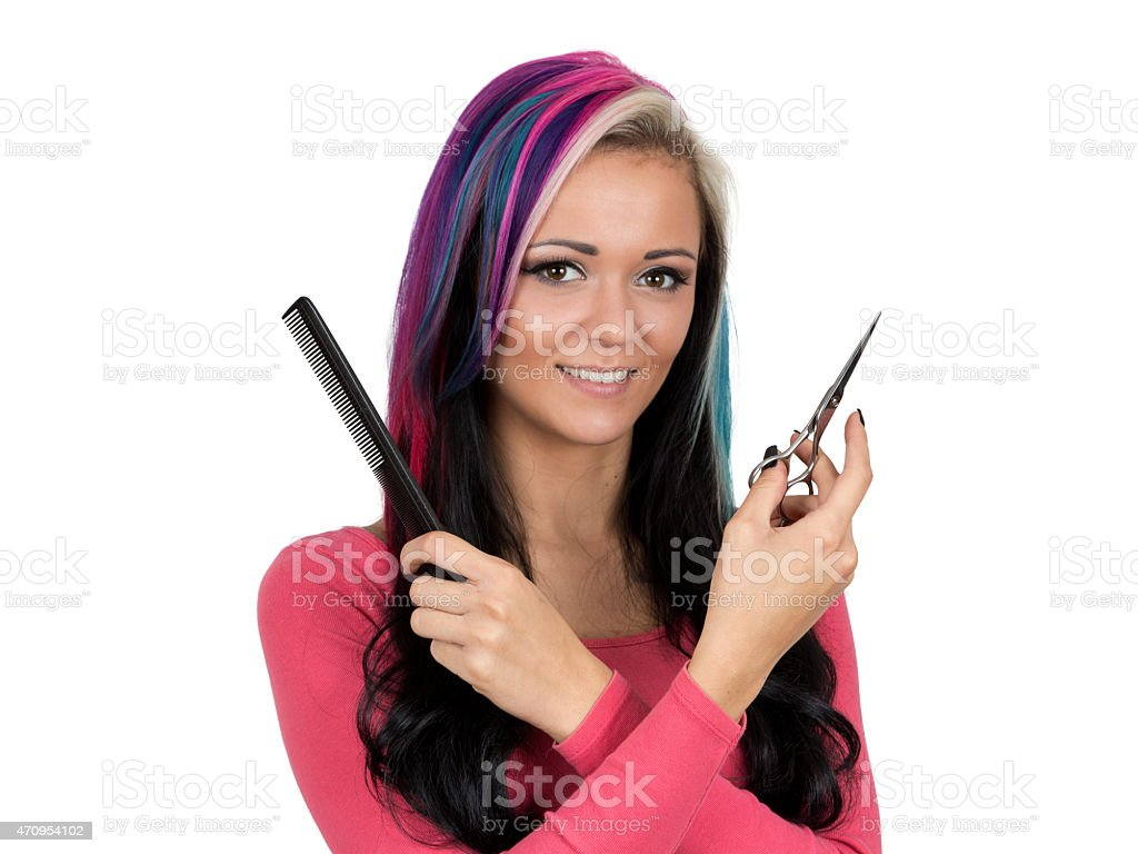 Hairstyling stock photo