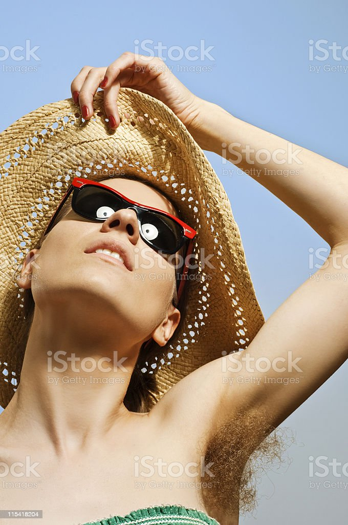 hairy armpit stock photo