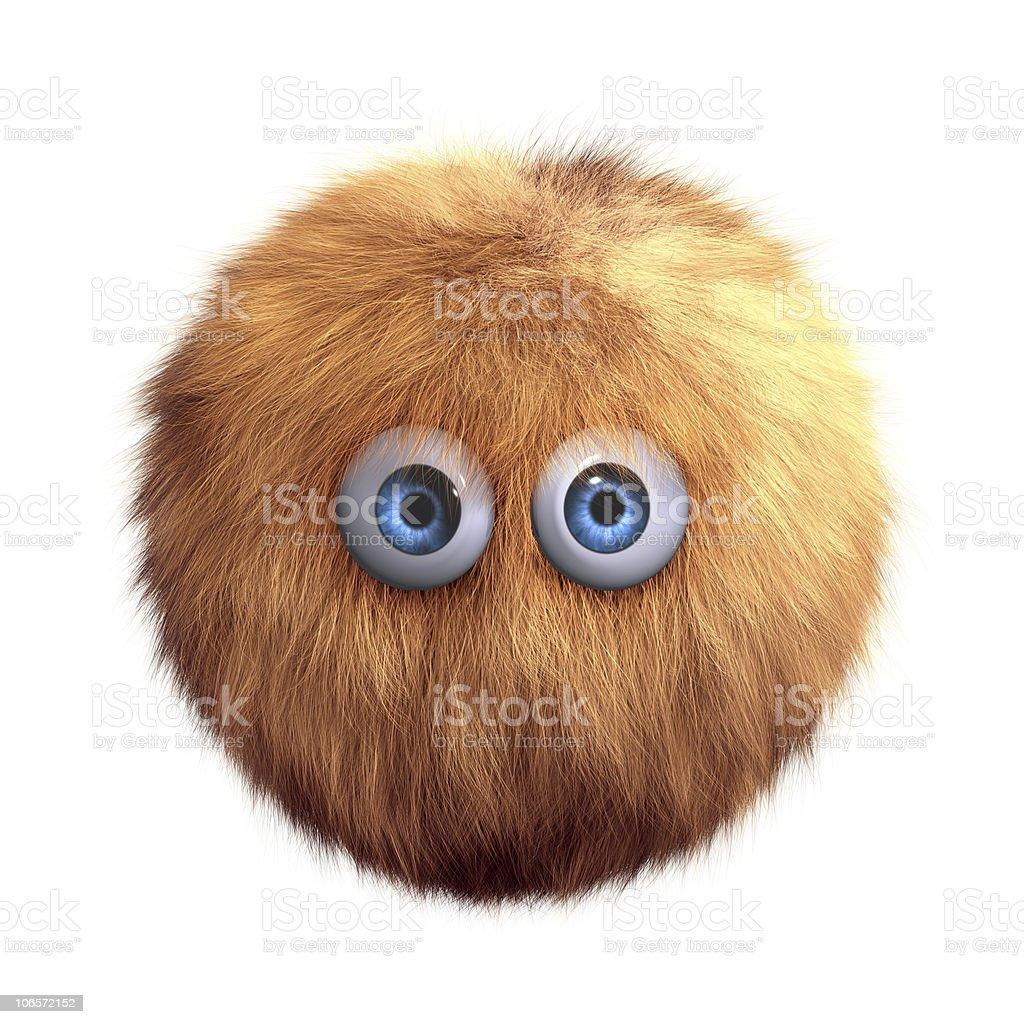 hairy ball toy royalty-free stock photo