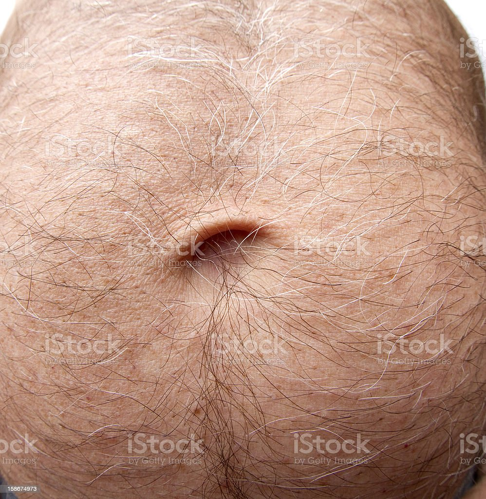Hairy Belly Button stock photo