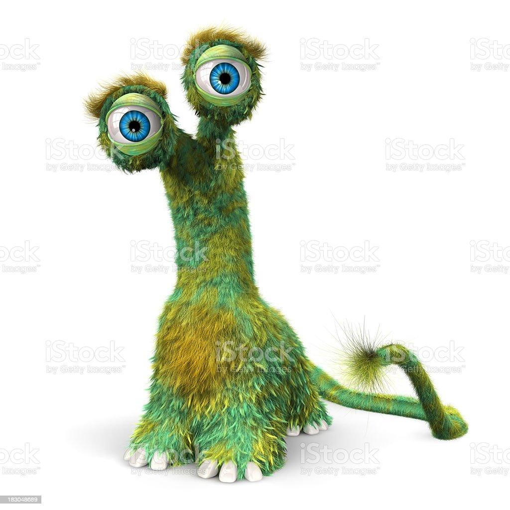 Hairy Fur Monster royalty-free stock photo