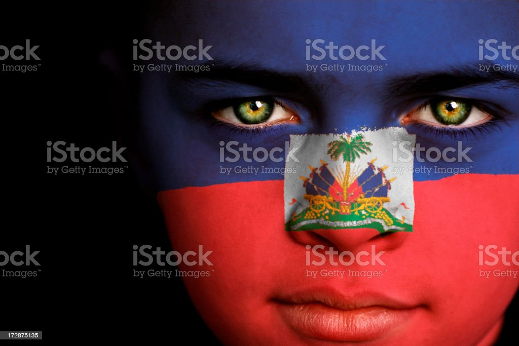 Haiti Boy stock photo