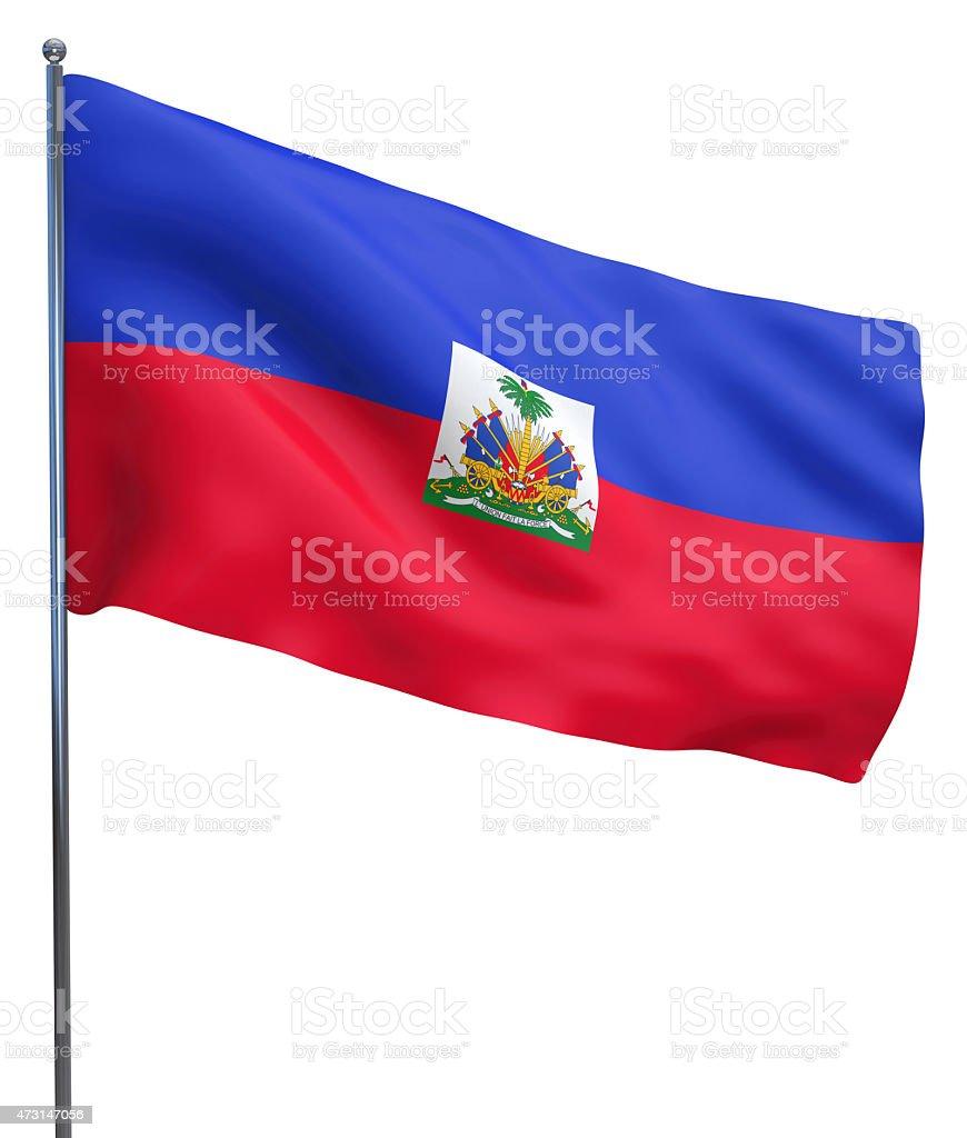 Haiti Flag Image stock photo