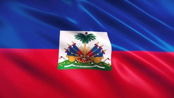 Haiti Flag 3d Render Haiti Flag (Close-up) Haiti Flag stock pictures, royalty-free photos & images