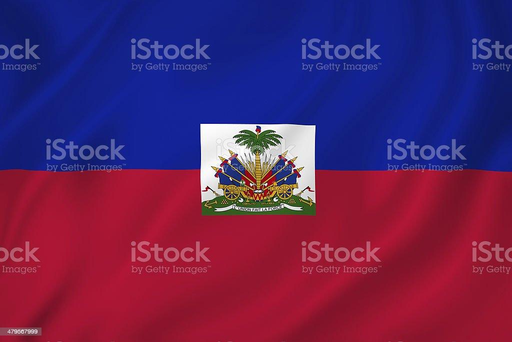 Haiti flag stock photo