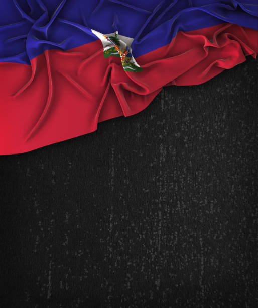 Haiti Flag Vintage on a Grunge Black Chalkboard With Space For Text Haiti Flag Vintage on a Grunge Black Chalkboard With Space For Text Haiti Flag stock pictures, royalty-free photos & images