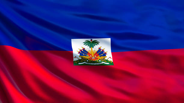 Haiti flag. Waving flag of Haiti 3d illustration. Port-au-Prince Haiti flag. Waving flag of Haiti 3d illustration. Port-au-Prince Haiti Flag stock pictures, royalty-free photos & images