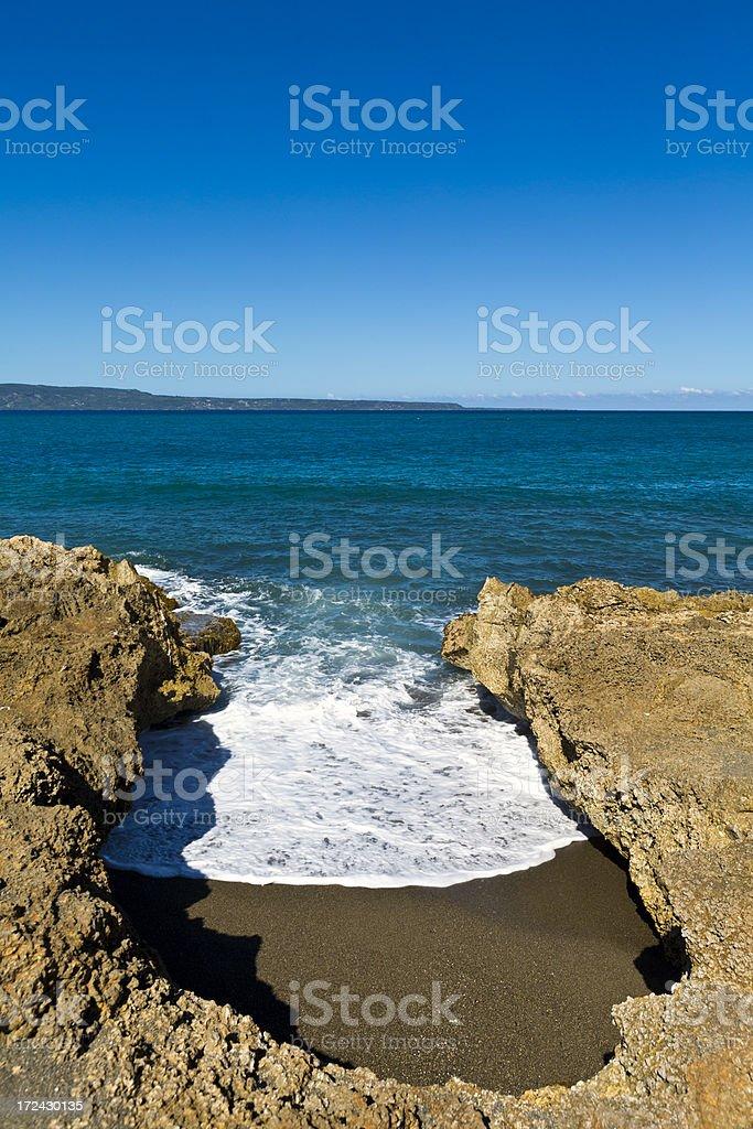 Haiti, Nord-Ouest, shoreline and Atlantic Ocean. royalty-free stock photo