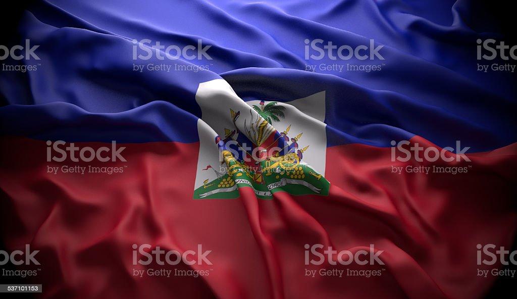 Haiti, Port-au-Prince national official state flag stock photo