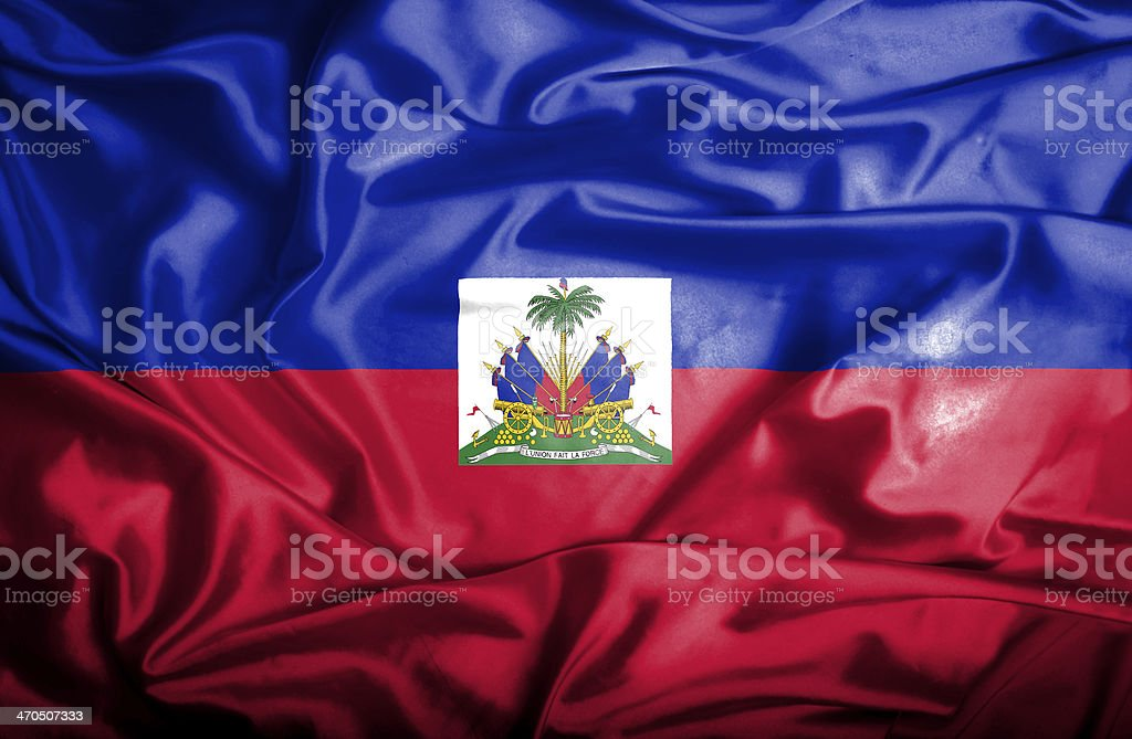 Haiti waving flag stock photo