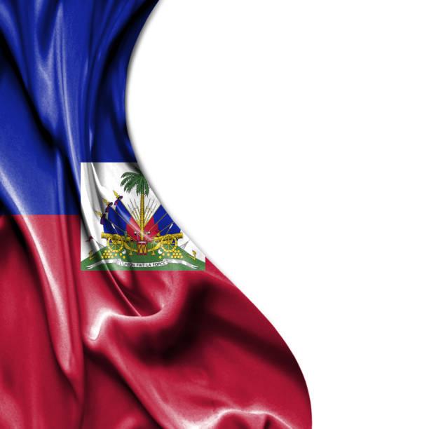Haiti waving satin flag isolated on white background Haiti waving silky flag isolated on white background Haiti Flag stock pictures, royalty-free photos & images