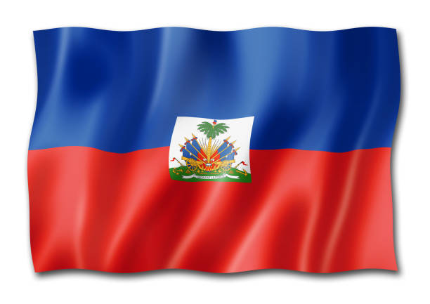 Haitian flag isolated on white Haiti flag, three dimensional render, isolated on white Haiti Flag stock pictures, royalty-free photos & images
