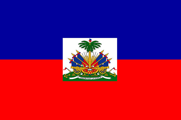 Haitian flag Haitian flag, flag series... Horizontal composition. Full frame. Haiti Flag stock pictures, royalty-free photos & images