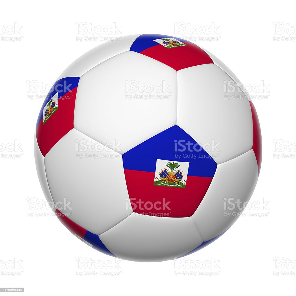 Haitian soccer ball stock photo