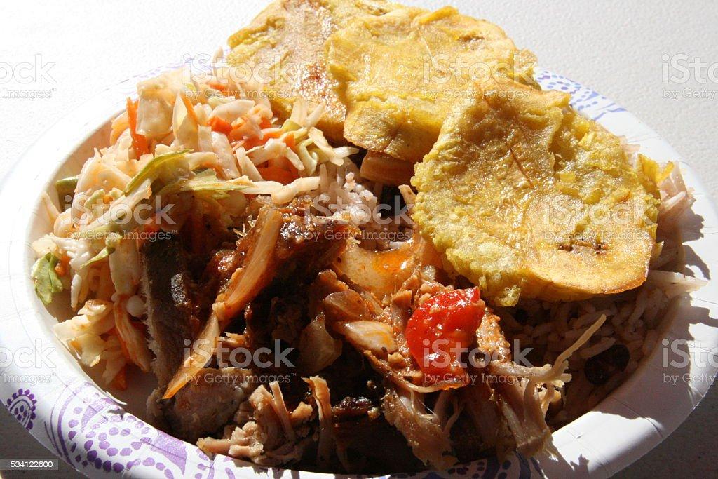 Haitian Street Food in Portland Oregon stock photo