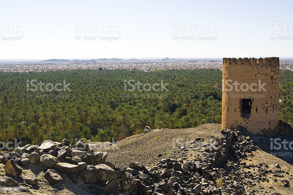 Hajar mountains, Oman royalty-free stock photo