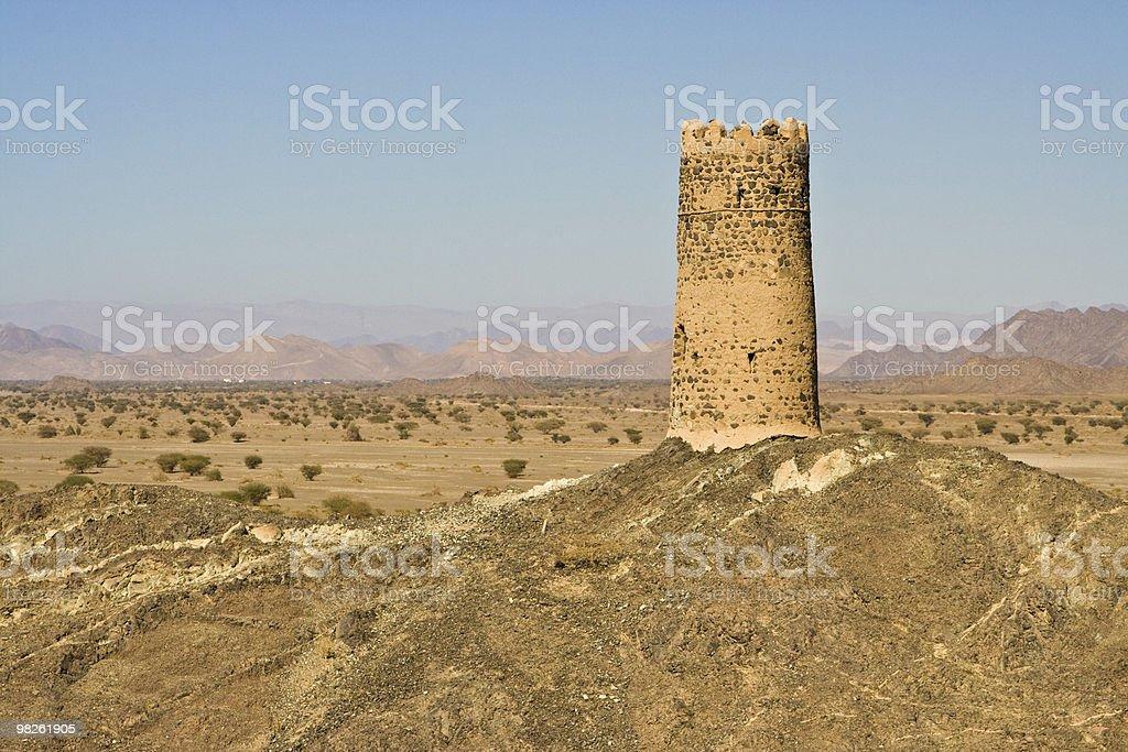 Montagne di Hajar, Oman foto stock royalty-free