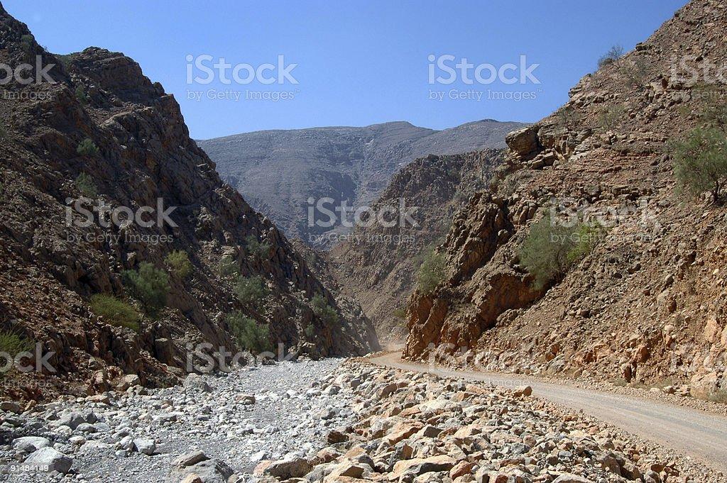 Hajar Mountains royalty-free stock photo