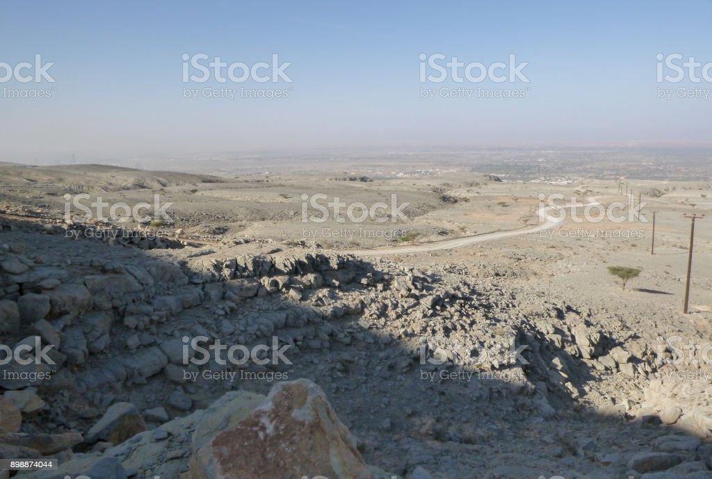 Hajjar mountains neat Khatt village. Ras al-Khaimah region. UAE stock photo