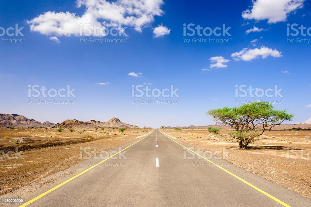 Hajjar Mountains Winding Country Road royalty-free stock photo