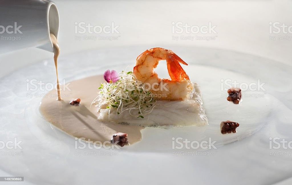 A pescada cozida - foto de acervo
