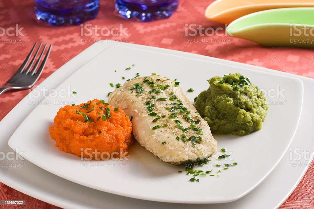 Hake filet royalty-free stock photo