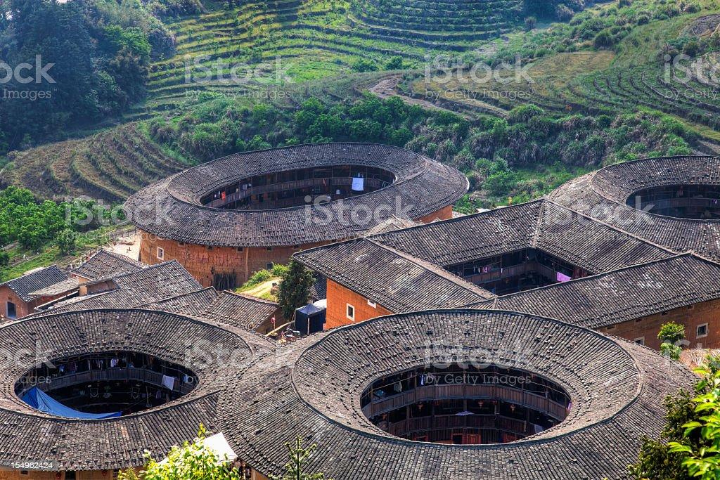 Hakka Tulou traditional Chinese housing in Fujian Province of China royalty-free stock photo