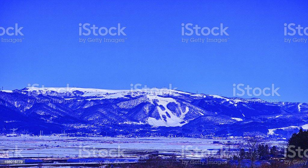 Hakodate Niyama plateau ski area royalty-free stock photo