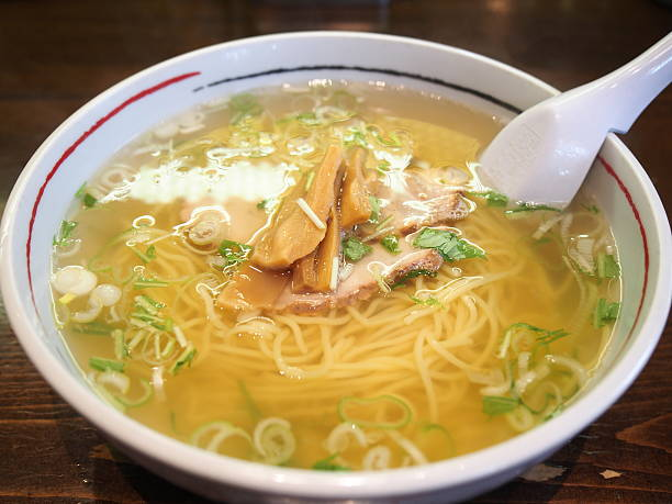 Hakodate Style Shio Ramen (Noodle with Salt Flavored Soup) stock photo