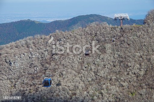 istock Hakone Ropeway/Scenery of Hakone volcano in Japan 1321415781