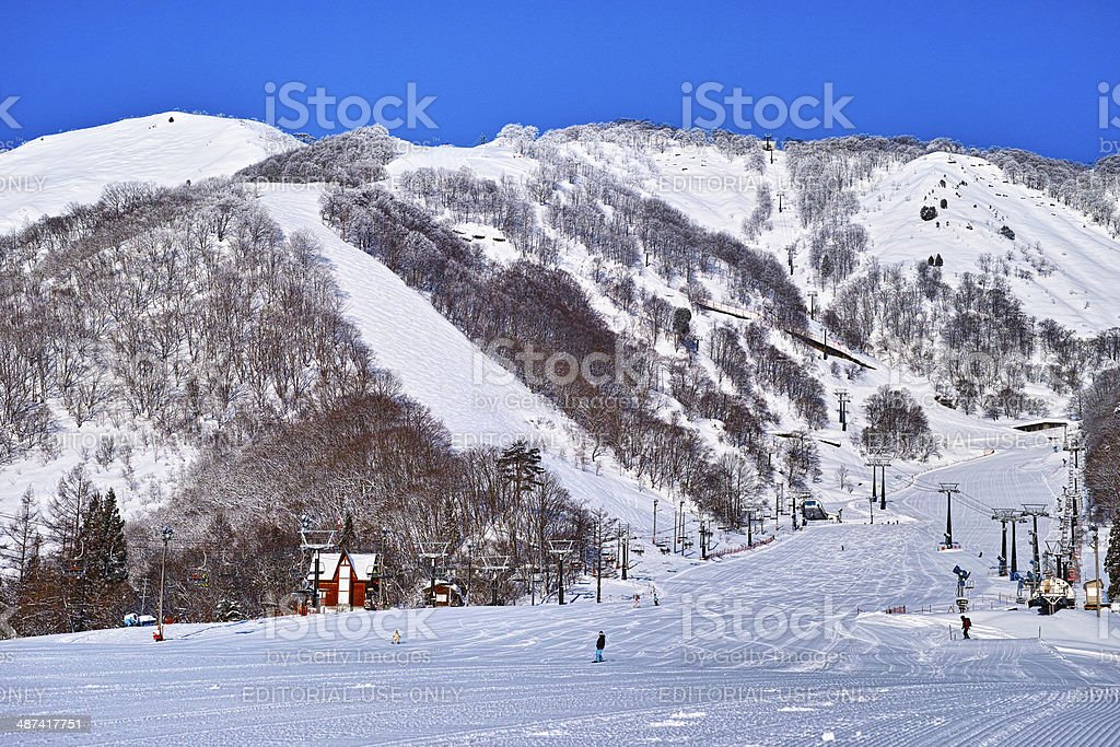 Hakuba-Goryu ski resort stock photo