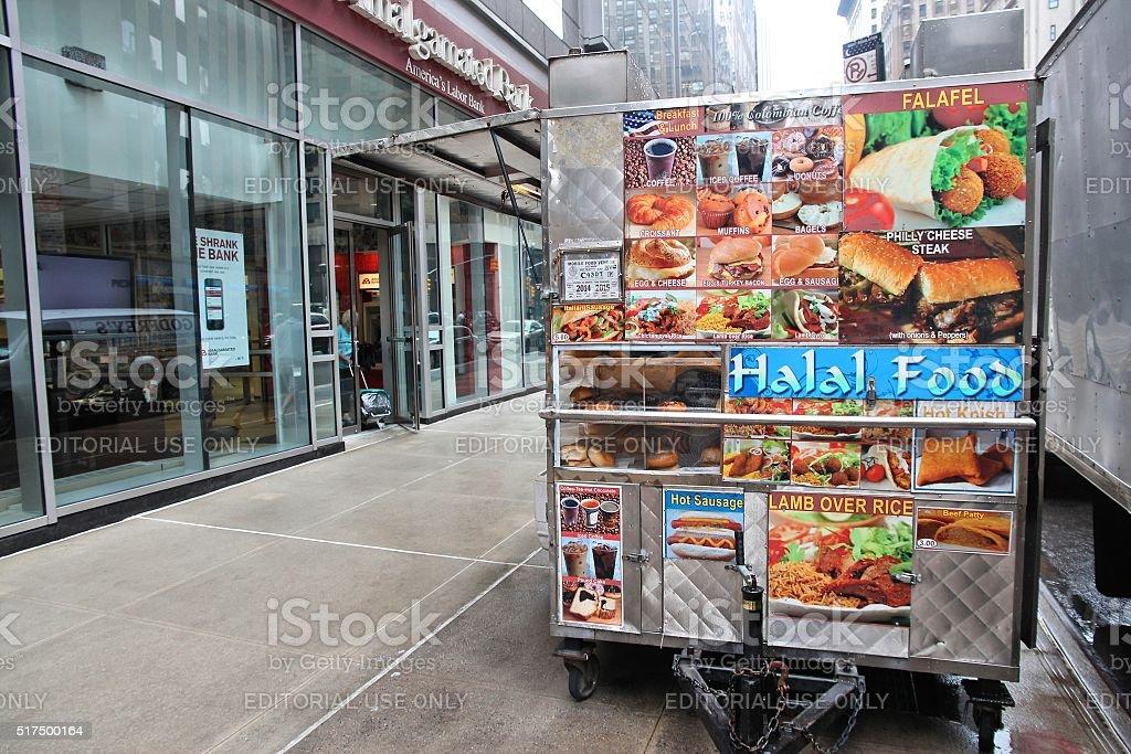 Halal food cart stock photo