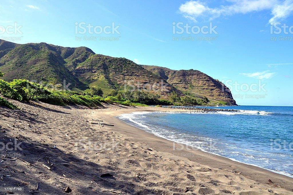 Halawa Bay Beach on Molokai - Hawaii, USA stock photo