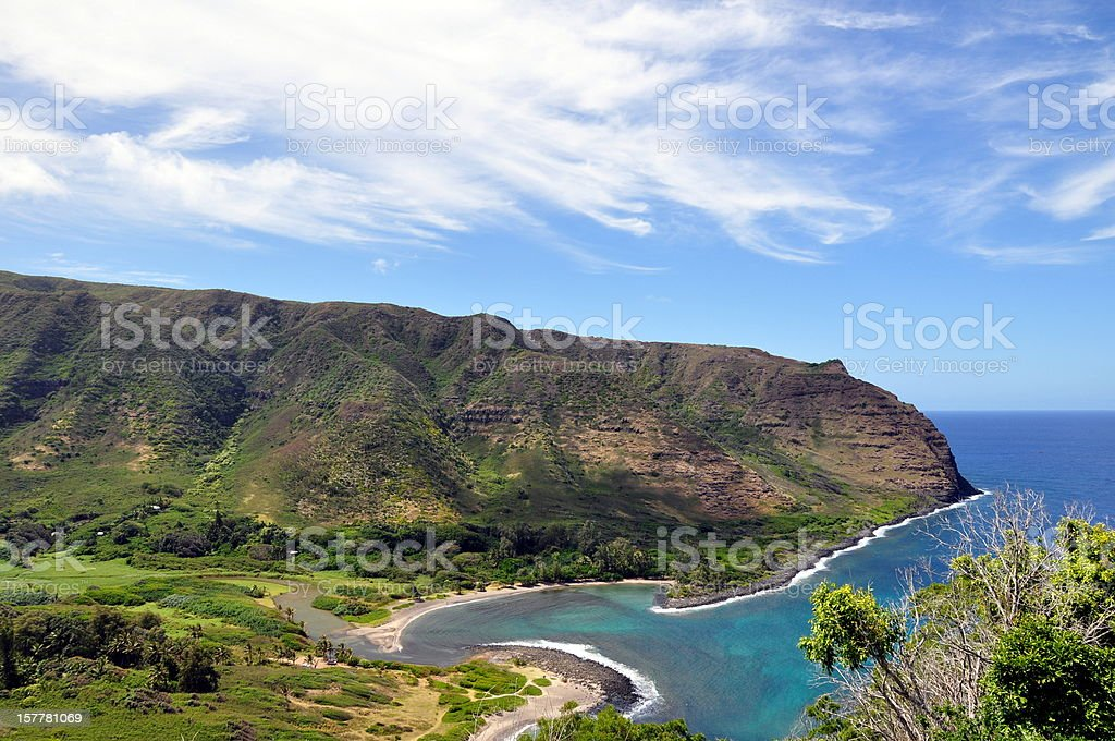Halawa Bay on Molokai - Hawaii, USA stock photo
