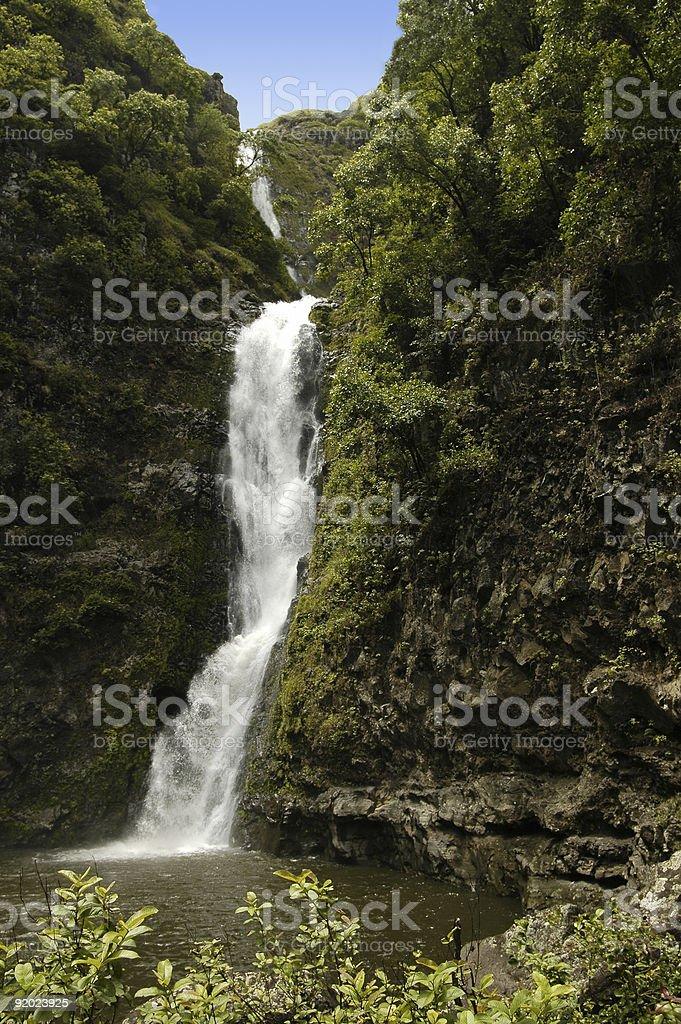Halawa Falls stock photo