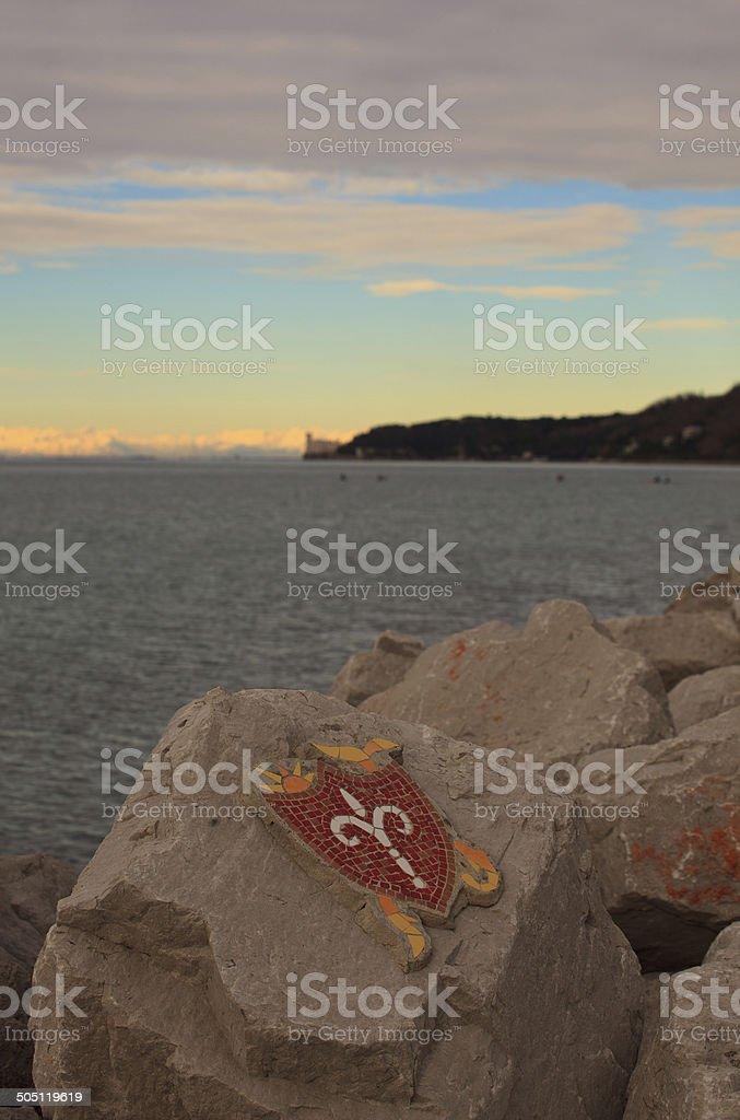 Halberd, Trieste city symbol royalty-free stock photo
