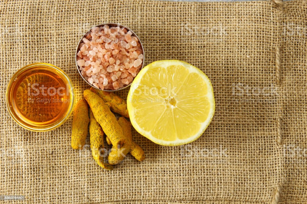 Haldi or Turmeric drink stock photo