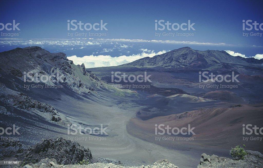 Haleakala Crater, Maui, Hawaii royalty-free stock photo