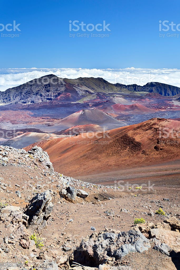 Haleakala Crater, Maui stock photo
