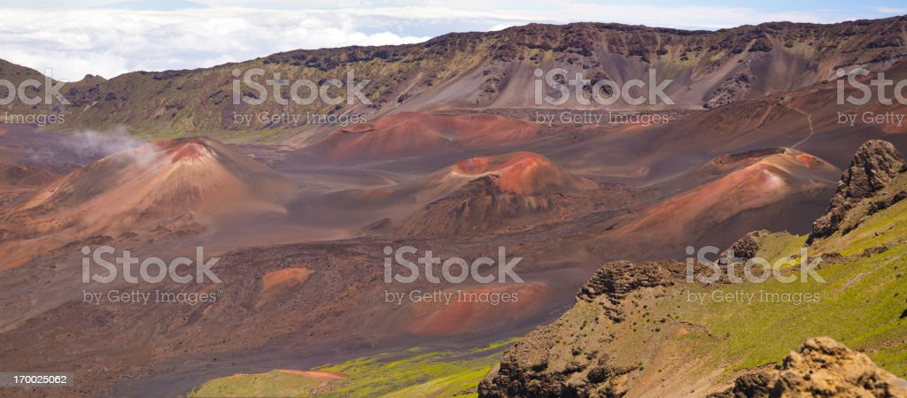 Haleakala Crater panorama, Maui, Hawaii royalty-free stock photo