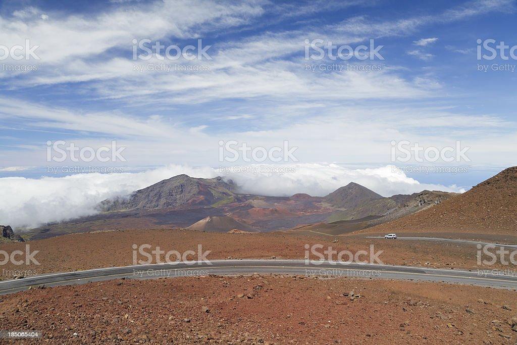 Haleakala Crater Road, Maui, Hawaii stock photo