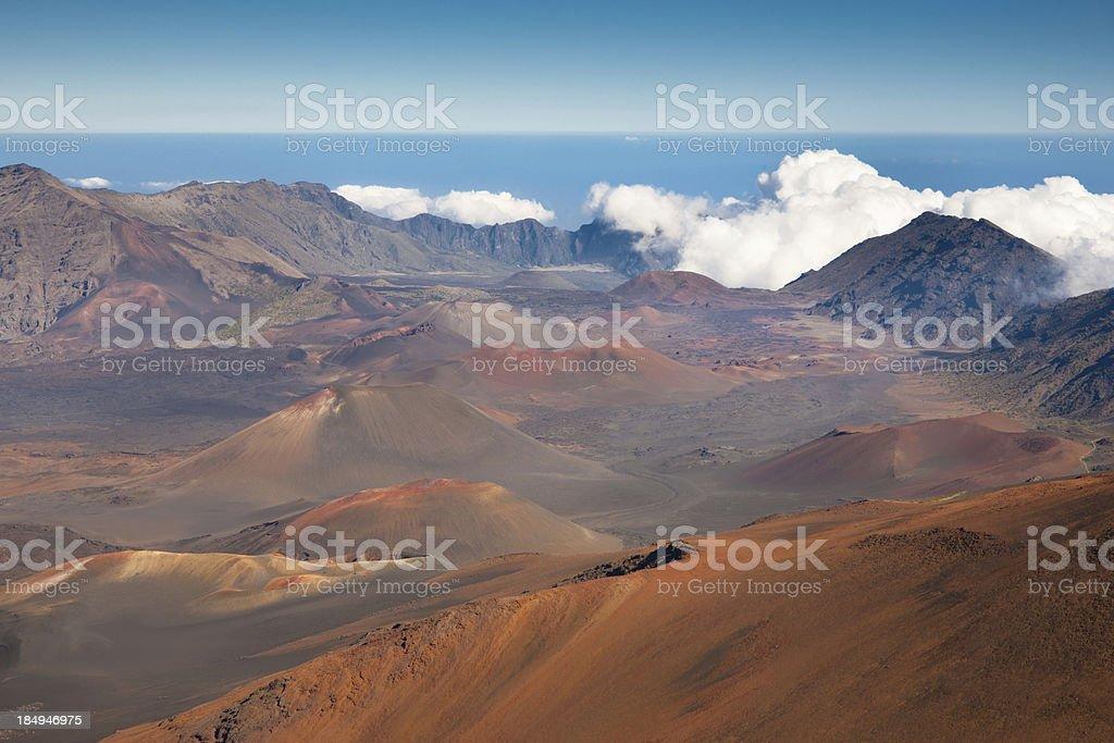 Haleakala Crater Volcano Maui Island Hawaii stock photo