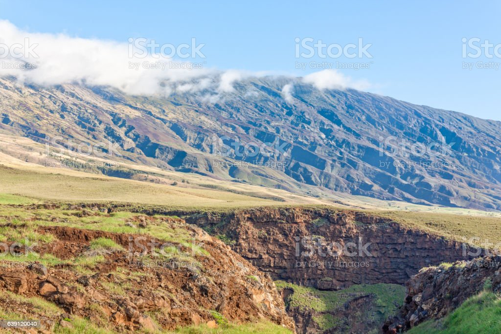 Haleakala From Hana Highway Maui stock photo