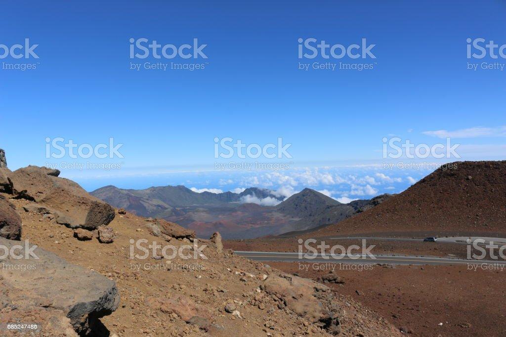 Haleakala National Park in Maui, Hawaii foto de stock royalty-free