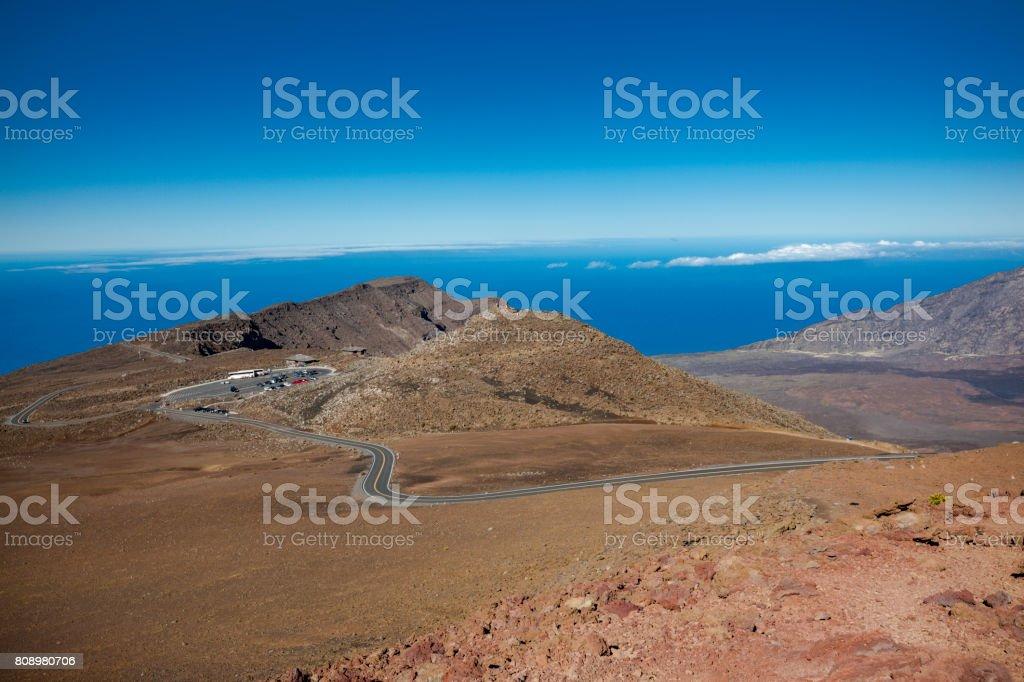 haleakala national park, maui, hawaii islands stock photo