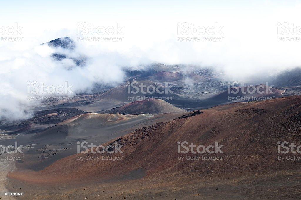 haleakala national park volcanic crater landscape, maui hawaii royalty-free stock photo